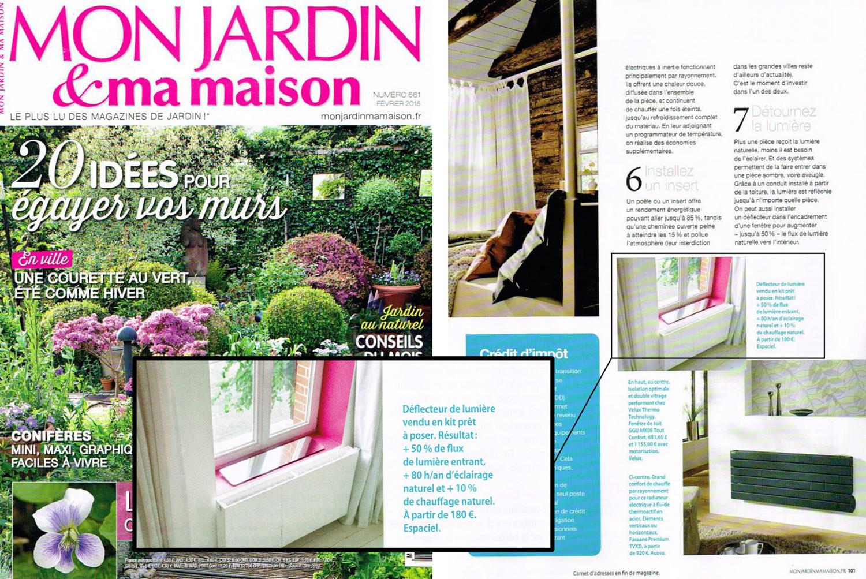 Mon jardin & ma maison / Février 2015 / Mensuel / Edition nationale / Tirage 169 000 / Lecteurs 1 441 000